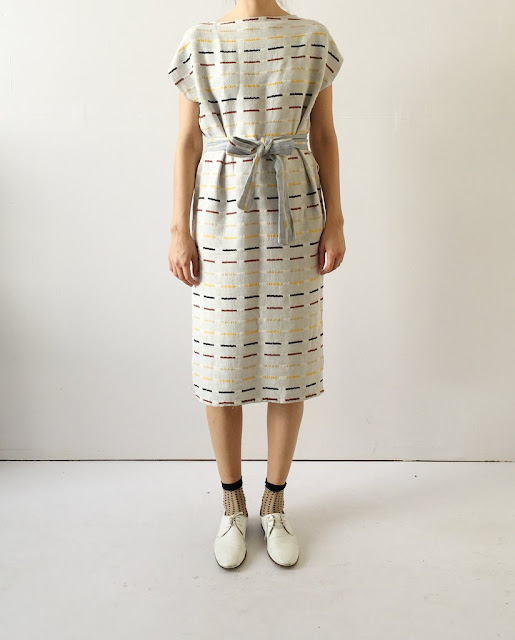 Ace & Jig Harbour Dress in Ivy (Reverse)