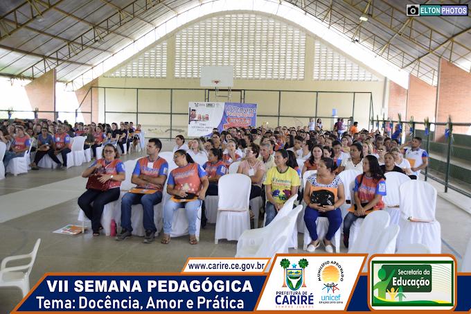 Secretaria da Educação de Cariré promove com êxito total a abertura da programação oficial da VII Semana Pedagógica