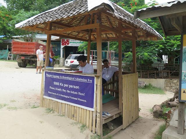 Puesto de tickets Zona Arqueológica de Mingun