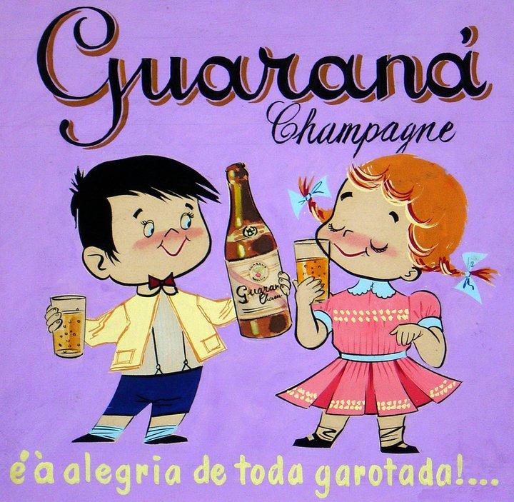 Propaganda dos anos 60 apresentando o Guaraná Champagne, da Antarctica