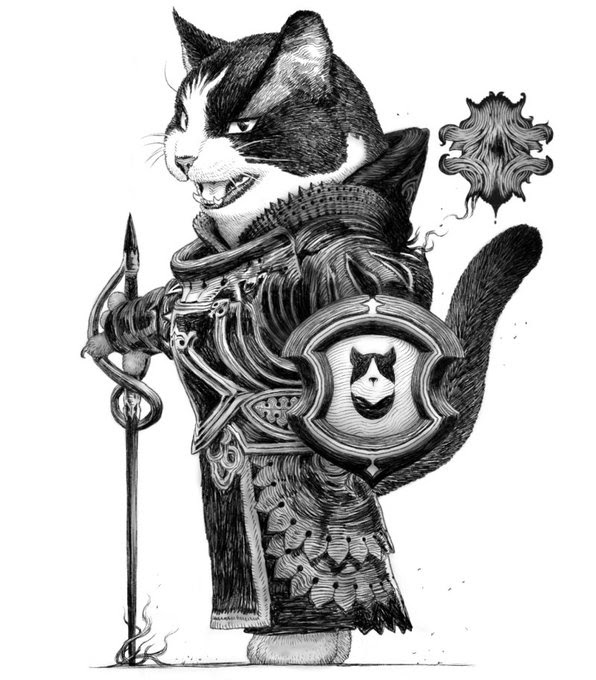 10-Black-Knight-Cat-PankichiM-Mofumofu-Animals-www-designstack-co