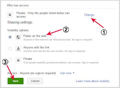Share file ke public di google drive