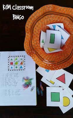K&M Classroom Bingo Game