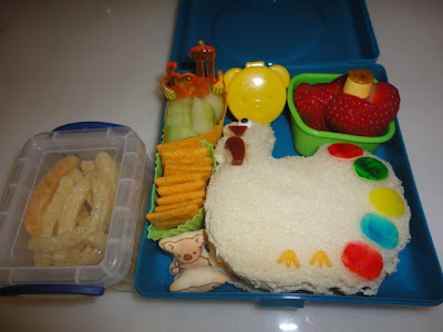 Thanksgiving turkey for bento school lunches