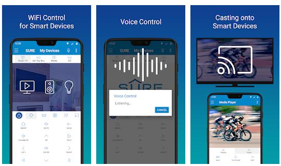 Telecomando Universale SURE - Applicazione che trasforma lo smartphone in un telecomando