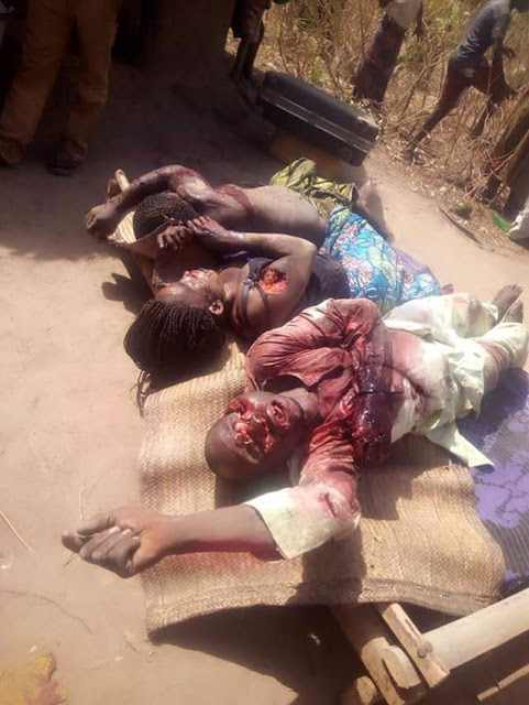 Village Head & his two wives brutally murdered by suspected Fulani herdsmen in Taraba State (graphic pics)