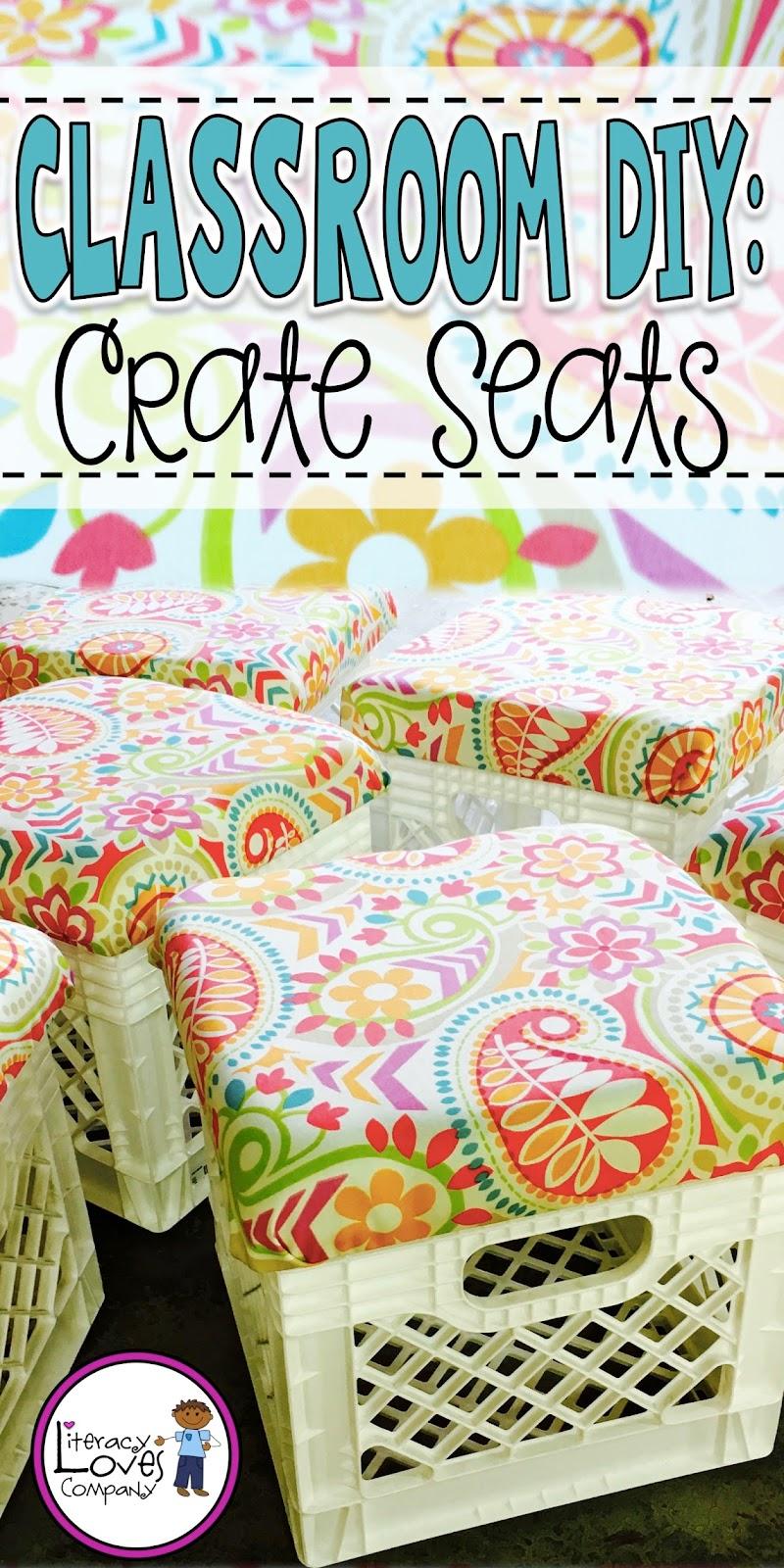Classroom Decor Companies ~ Literacy loves company classroom diy crate seats