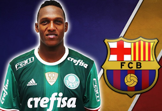 Sport: Barcelona sign Yerry Mina from Palmeiras