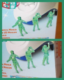2 3DMagic Irwin RX Fortress Battle Set Mookie Toys Toy Soldier Maker UV Machine 141 29 15; 3D Magic; 3D Maker; 69545; A World of Play; Bonus Free Play Stencil; Fortress Battle Set; Homemade; Irwin RX Ltd; Item No: 83003; Mookie Toys; Small Scale World; smallscaleworld.blogspot.com; Toronto; Toy Maker; Toy Soldiers; UV Light Activated; Figures Close-up