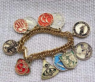 Apollo and space charm bracelet 1960s
