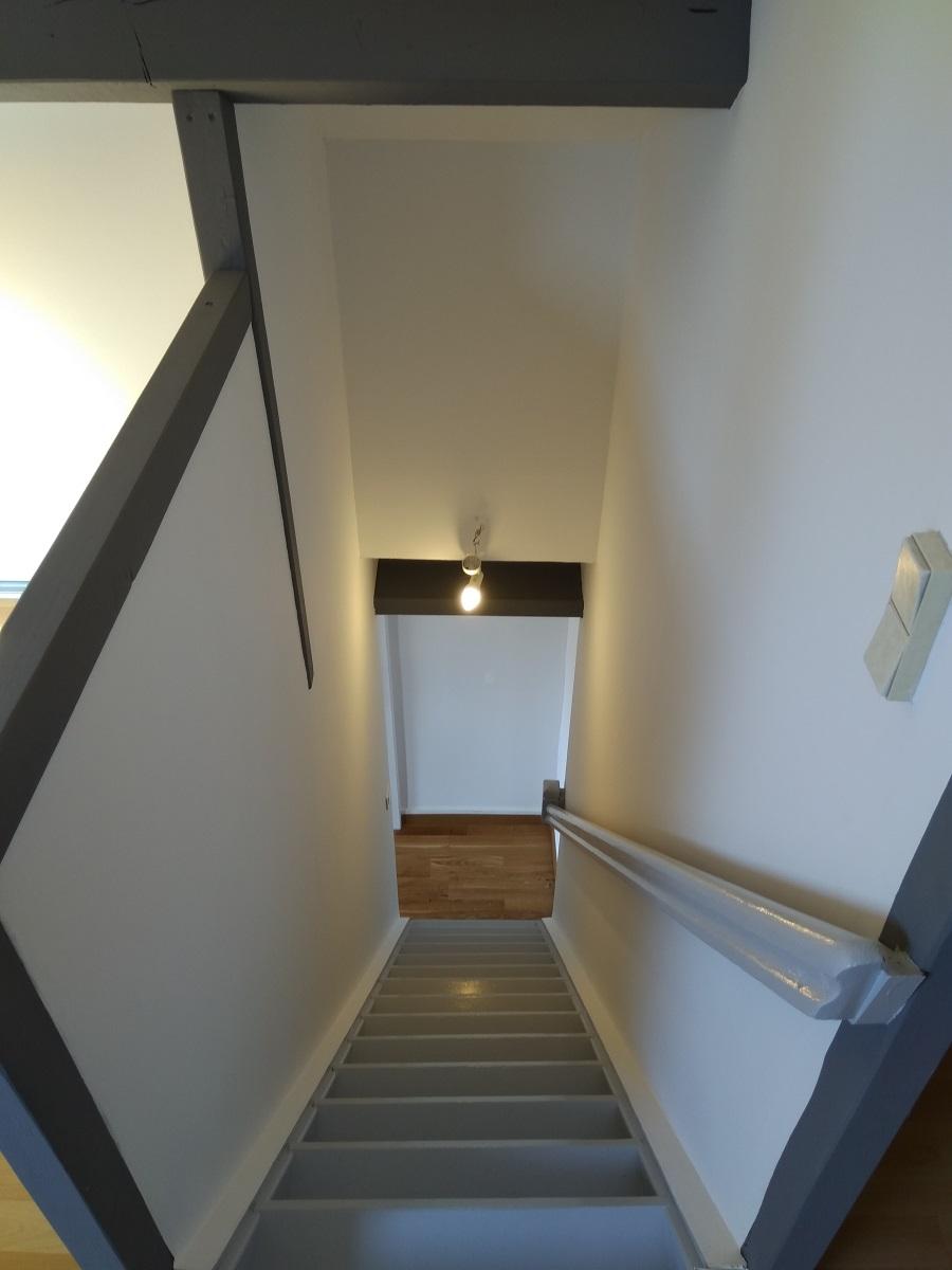 Peindre Un Escalier En Gris b-t-s: de-tapissage complet + ponÇage intÉgral, reprise des