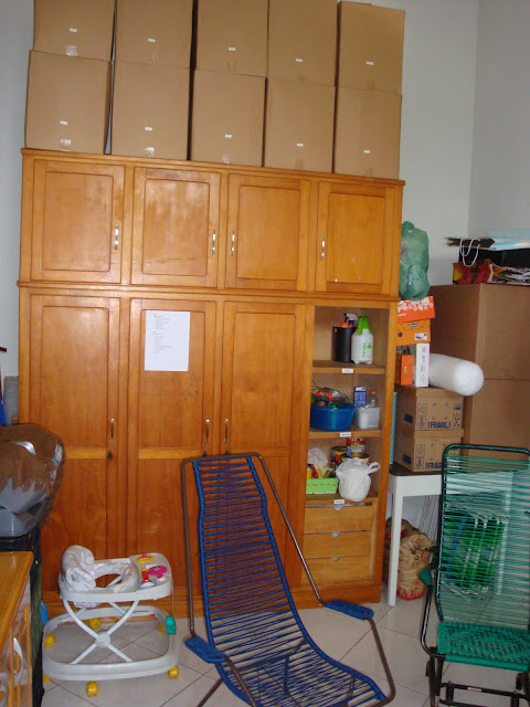 Organizando o depósito do lar