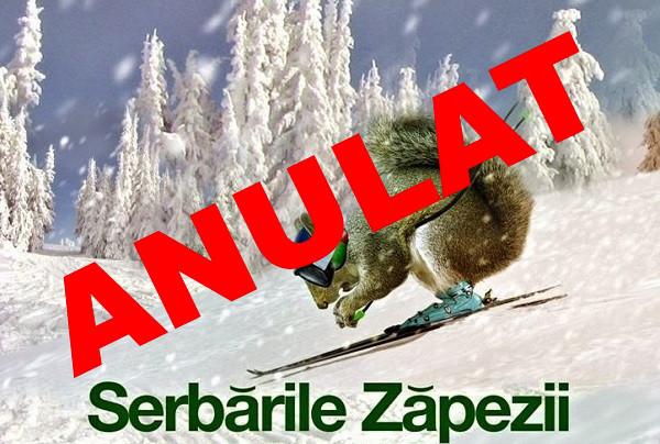 Serbările Zăpezii 2016 s-au anulat din cauza condițiilor meteo