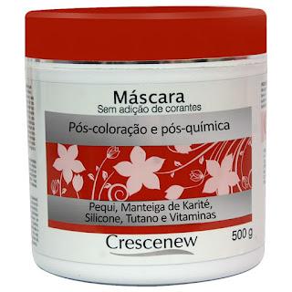 Máscara de Hidratação Capilar para Cabelos Tintos, Tingidos e Descoloridos Crescenew