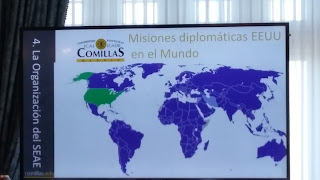 Mapa de las misiones diplomáticas de EEUU