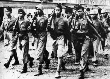 Foto Tentara Pejuang Kemerdekaan Indonesia Era Soekarno