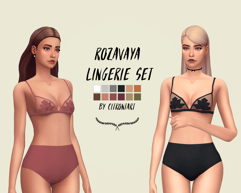 My Sims 4 Blog: Lingerie Set by CitronTart