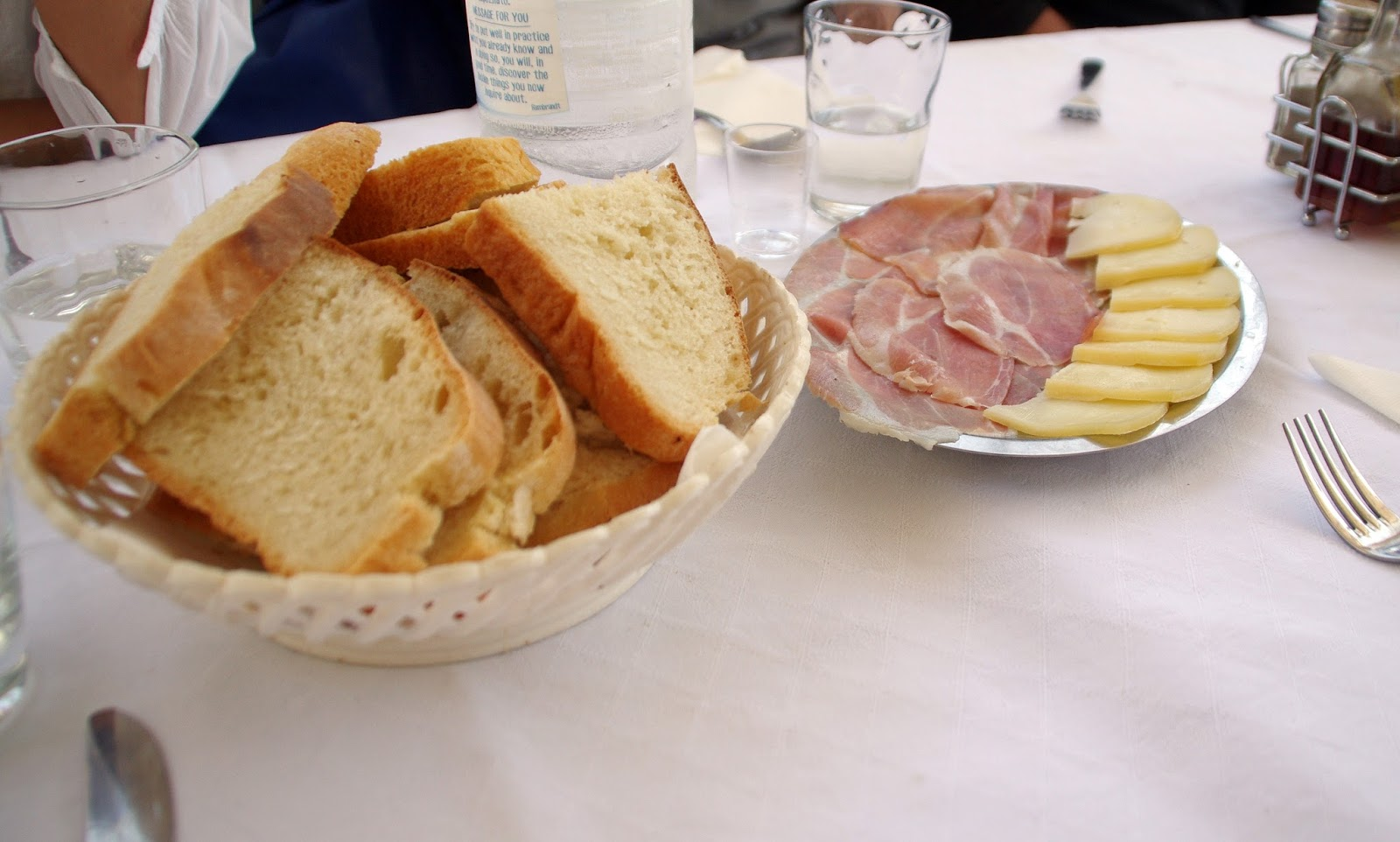 Bread, meat and cheese on Sipan Island