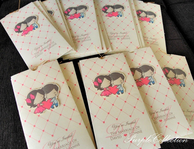 Cartoon Pocket Wedding Invitation Card, pocket, ivory gold card, ivory gold, wedding invitation card, cartoon card, cartoon, pocket card, pocket invitation card, wedding card, wedding, cartoon, pocket, joanne and david, joanne, david, handmade card, cartoon pocket wedding card