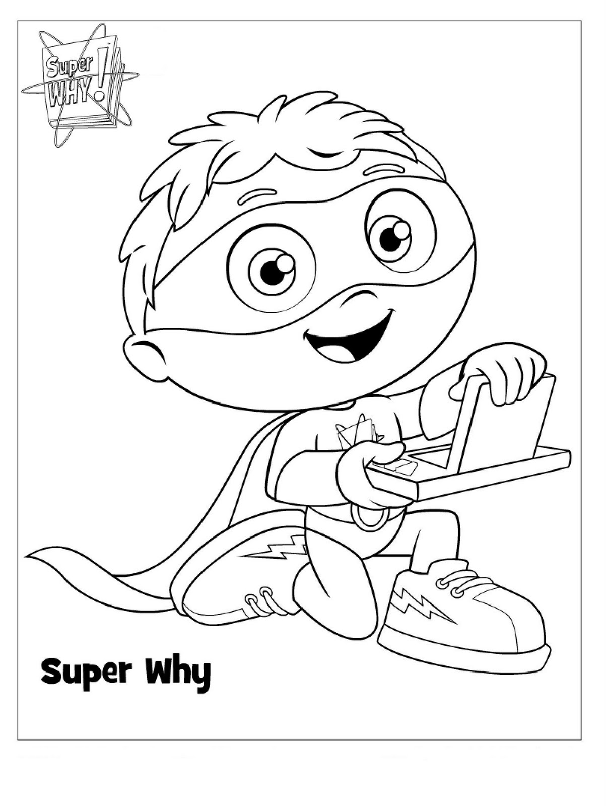 free downloadable coloring pages | Sarah with an H: Super Why Party