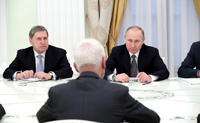 Vladimir Putin. Meeting with CEO of Volkswagen Matthias Mueller.