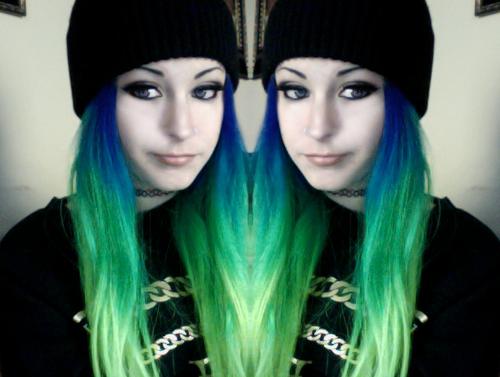 Turquoise dip dyed hair  hair dos  Dip dye hair Hair