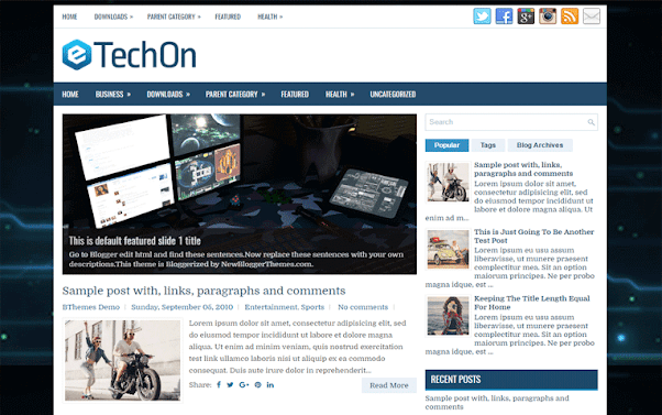 TechOn Free Blogger Template