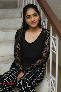 Actress Punarnavi Bhupalam Stills in Black Dress at Pittagoda Press Meet  0073.JPG