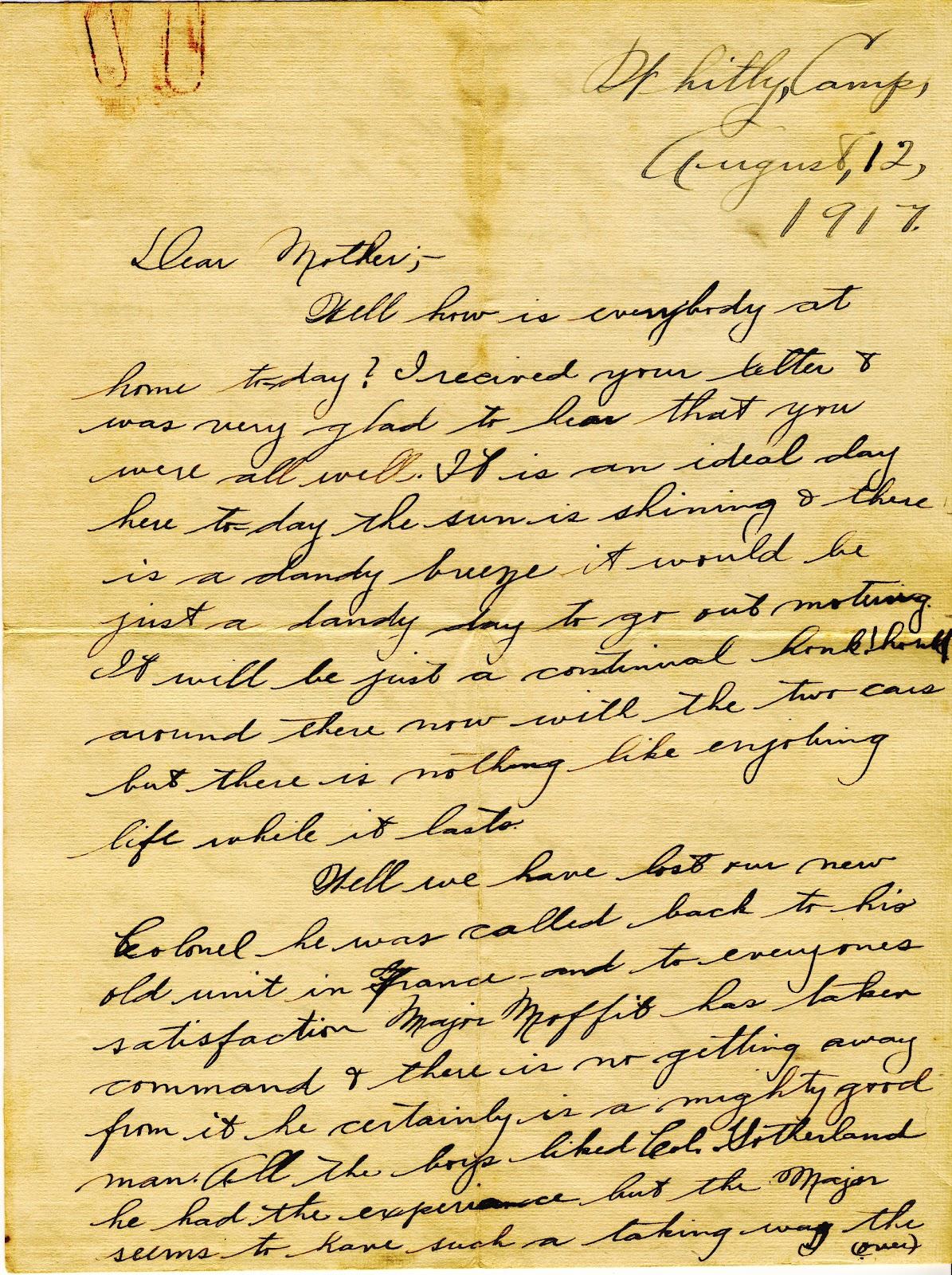 World War 1 Letters