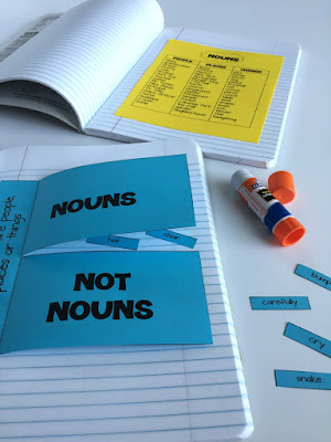 nouns and not nouns INB page