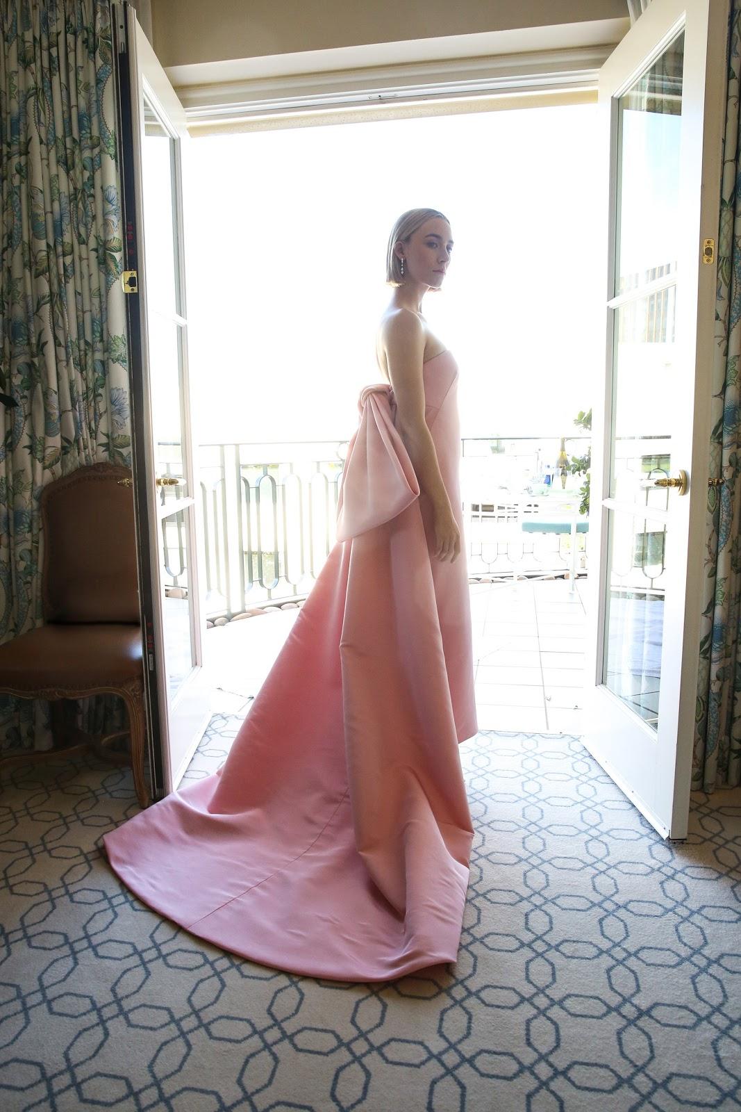 Saoirse Ronan's Oscar 2018 Pink Silk Gown
