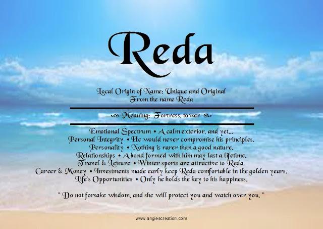 Reda | Unique Names