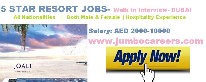 Maldives Hotel Job Interview at Dubai
