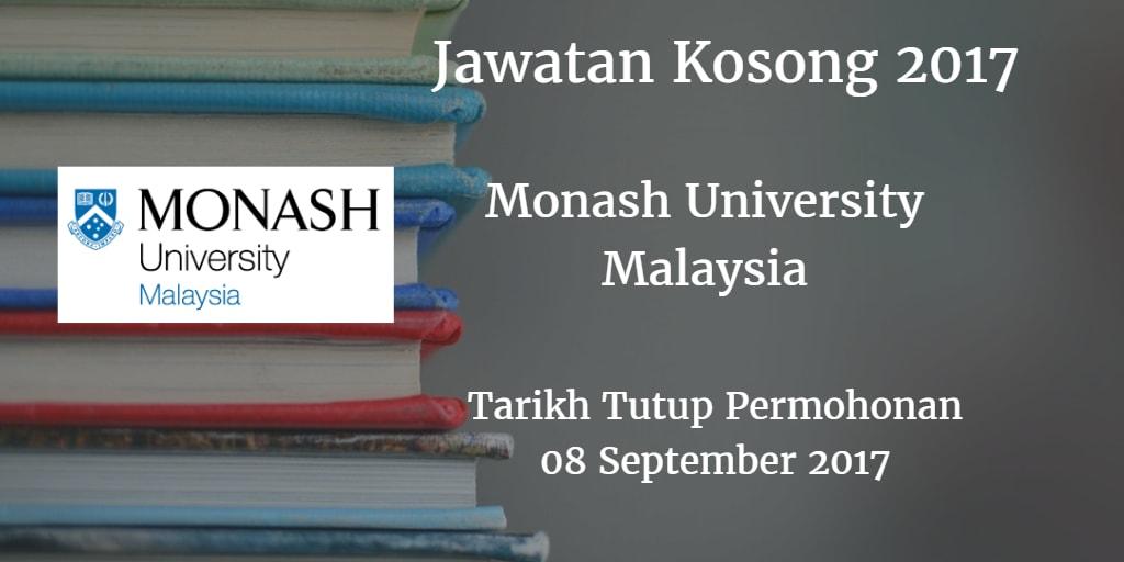 Jawatan Kosong Monash University Malaysia 08 Spetember 2017