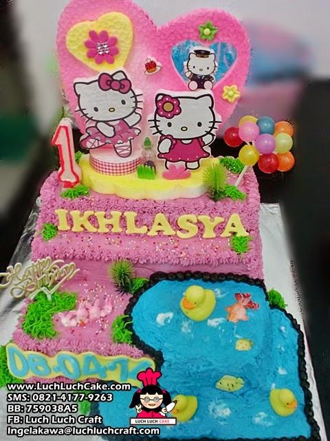 Luch Luch Cake Kue Tart Hello Kitty Pink