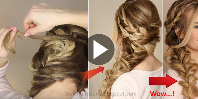 Learn - How To Make Mermaid Side Braid Hairstyle, See Tutorial