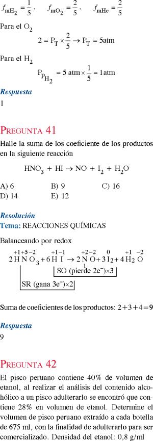 Quimica Simulacro De Examen De Admision A La Universidad Resuelto