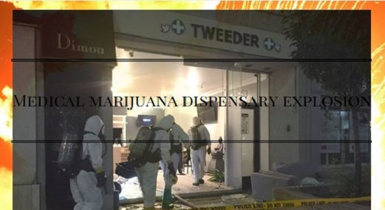 Explosion at a medical marijuana dispensary in north Toronto