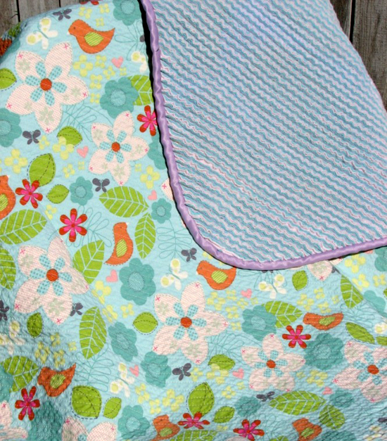 how to sew a faux chenille blanket