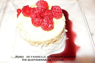 Vie quotidienne de FLaure: rond de faisselle aux fruits rouges