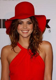 Josie Maran Beautiful Broad Smile With Hat
