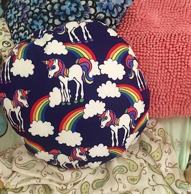 retro unicorn pillow