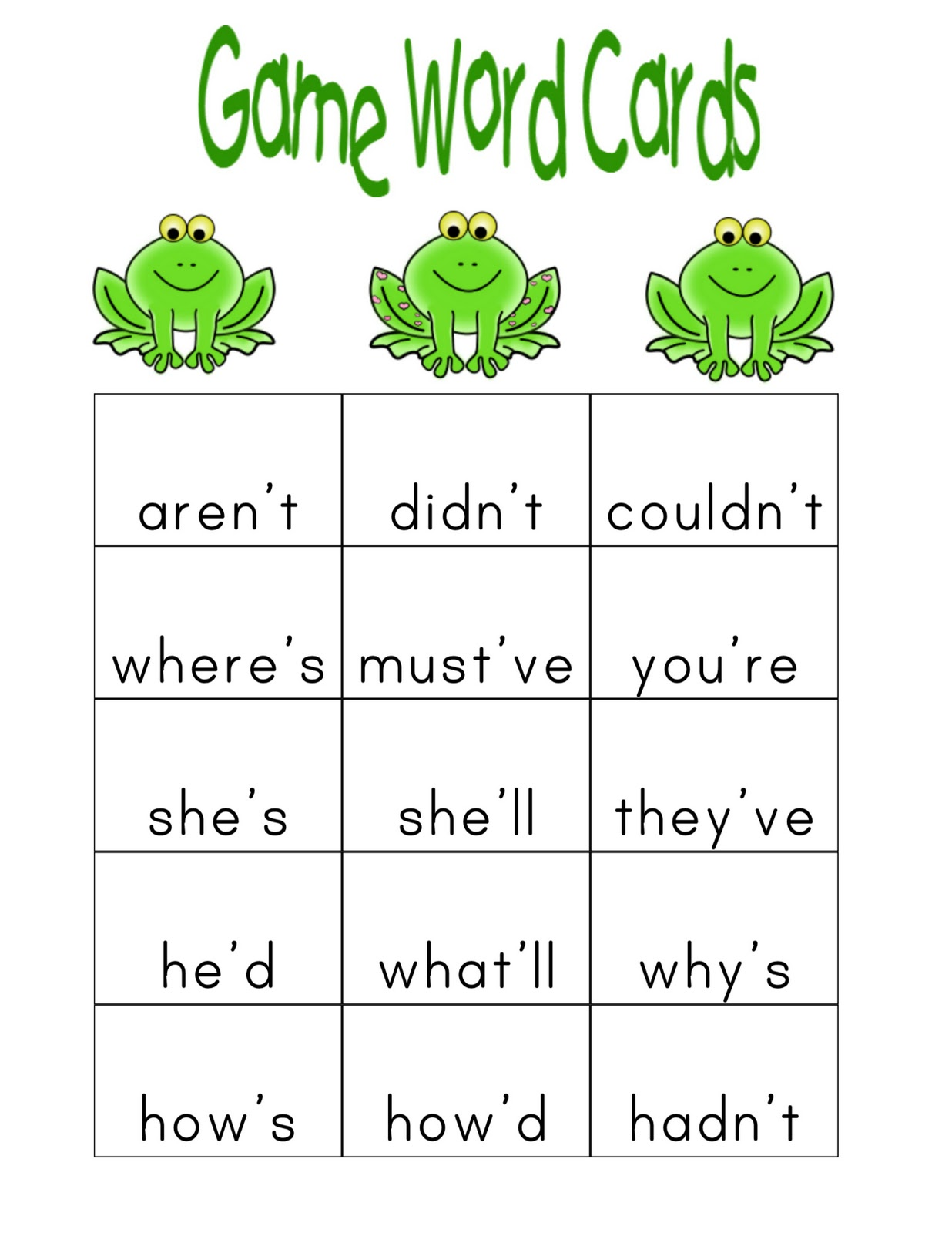 A Teacher S Journey In Second Grade Contractions Station