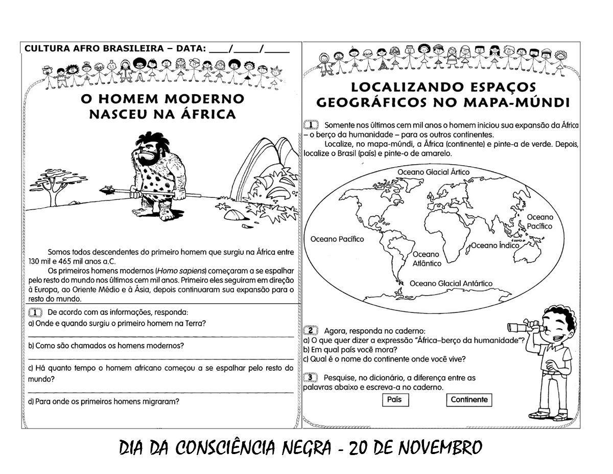 DIA DA CONSCIÊNCIA NEGRA ATIVIDADES, DESENHOS COLORIR e IMPRIMIR ...