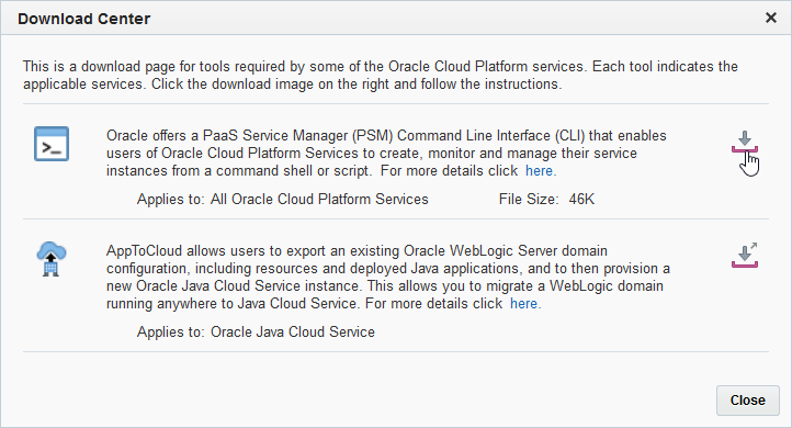 Arnes Tech Stuff: Using PaaS Service Manager (PSM) for