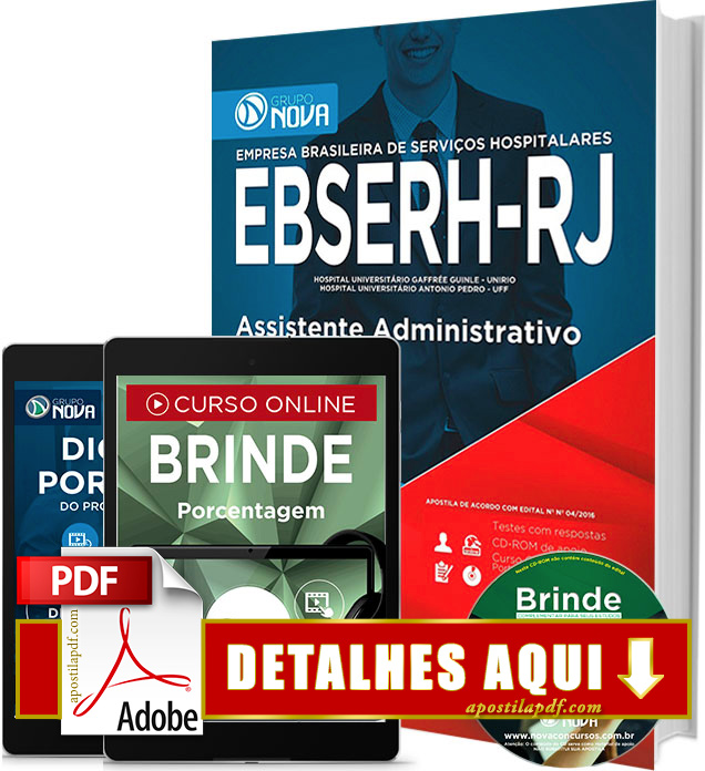 Apostila EBSERH RJ 2016 Assistente Administrativo Impressa