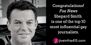 Shepard Smith is one of the top 10 most influential gay journalists