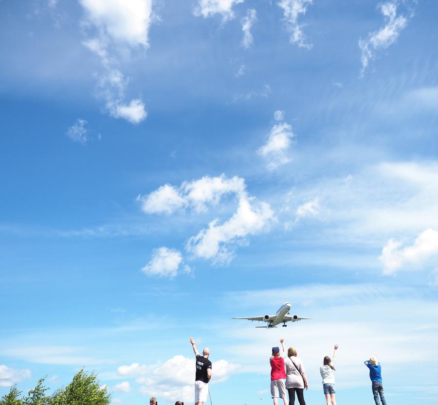 lentokoneiden bongausta
