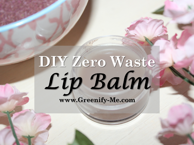DIY zero waste lip balm