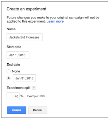 Google AdWords Experiments